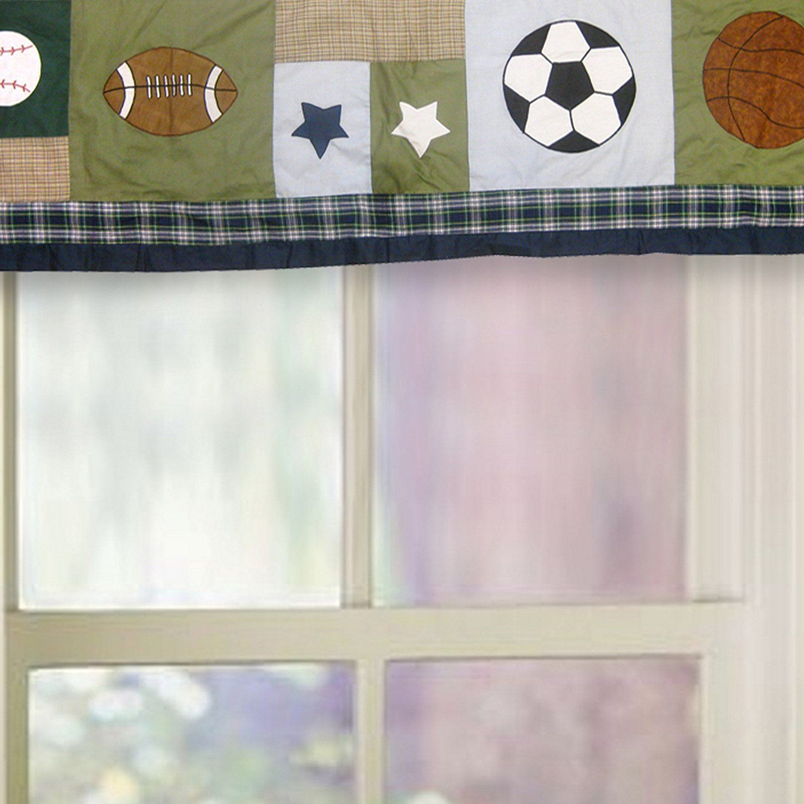 Sports Collage Window Valance | from hayneedle.com