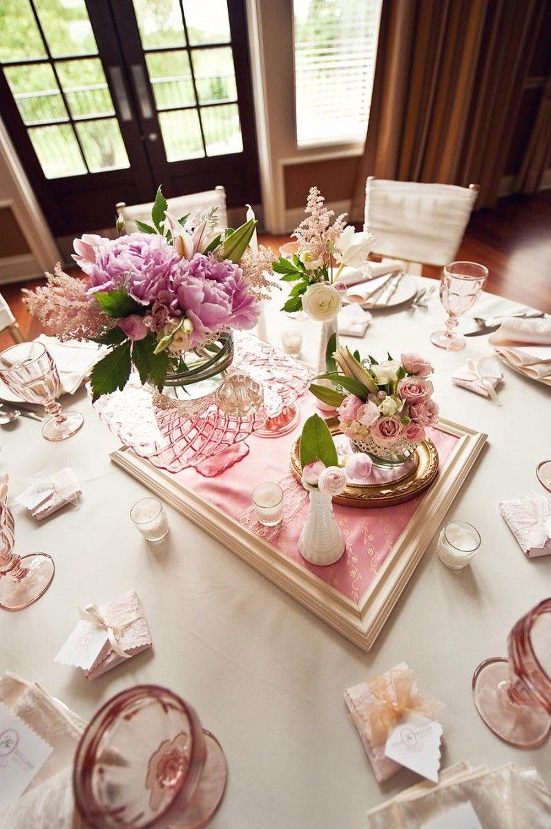 Vintage Gold And Pink Wedding Centerpiece Ideas Pink Wedding