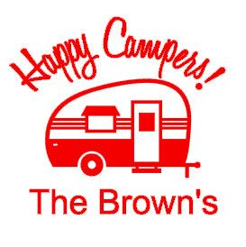 This Listing Is For One Happy Camper Vinyl Decal As Pictured