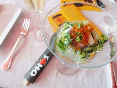 ceviche de lulas com ovas de salmão: #banquetedoschefs