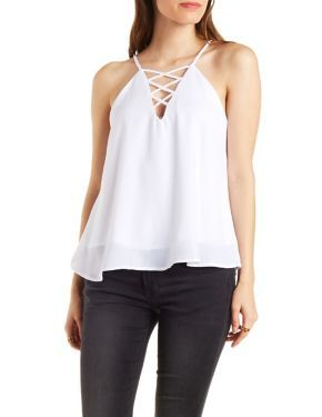 ee083a730a680e Caged Front Tank Top