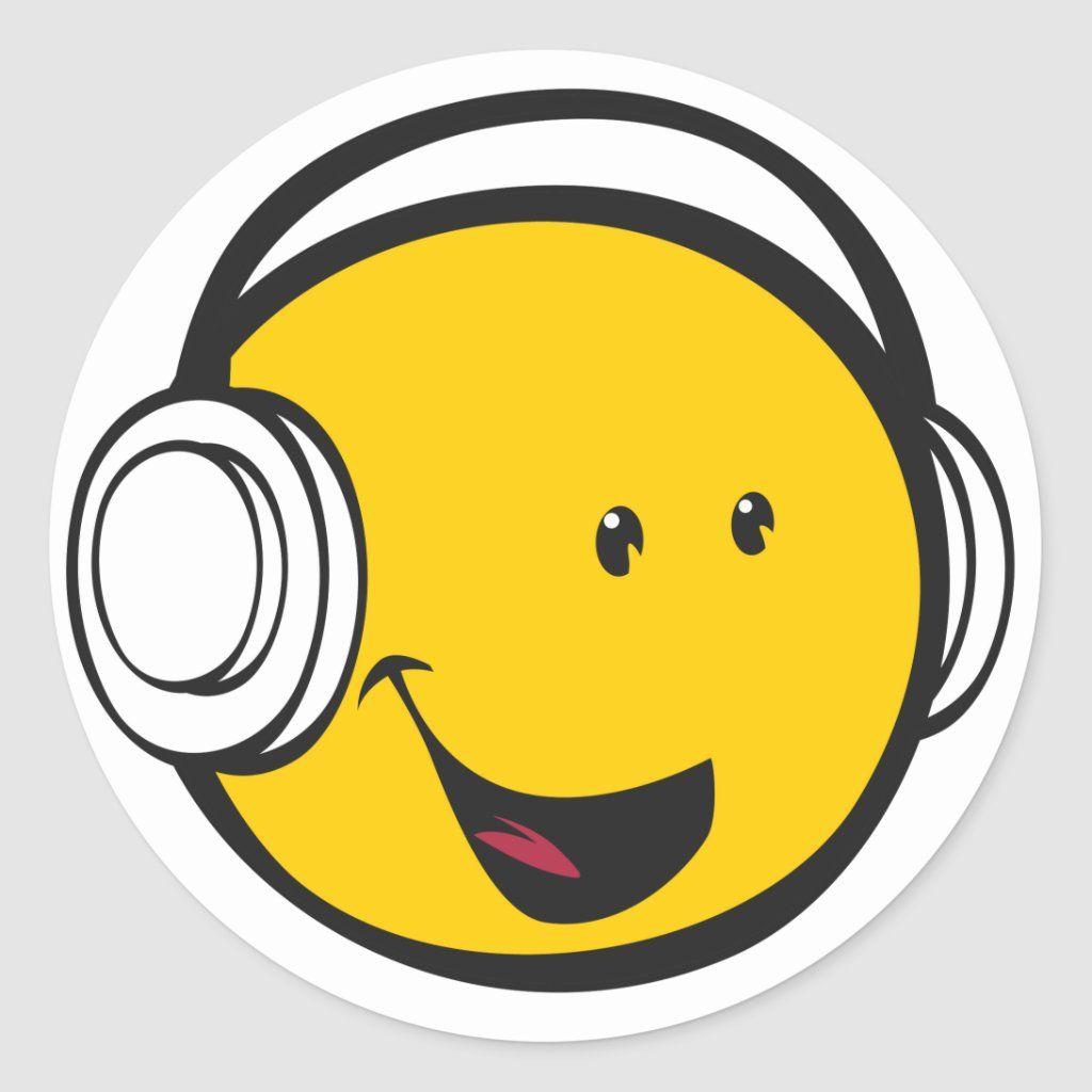 Emoji Headphones Sticker Zazzle Com In 2020 Emoji Stickers Stickers Custom Emoji