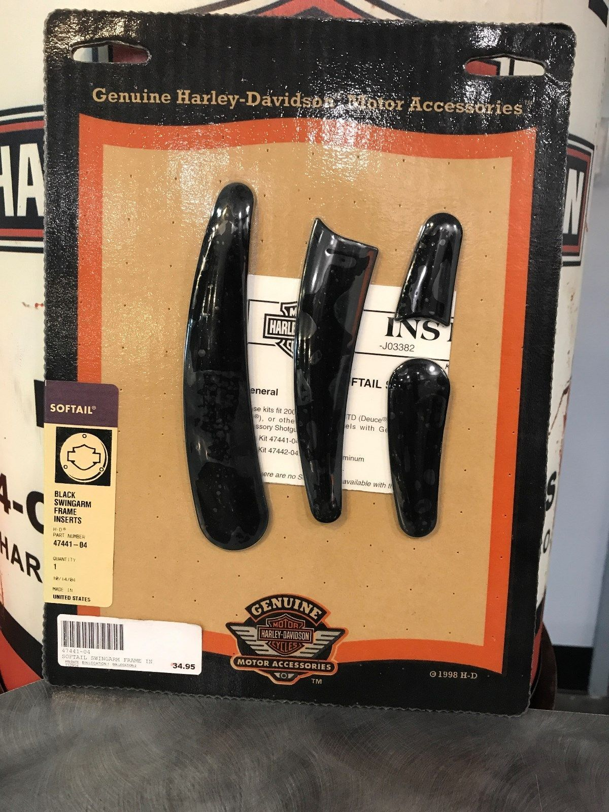harley Harley Davidson Black Swingarm Frame Inserts Softail 47441-04 ...