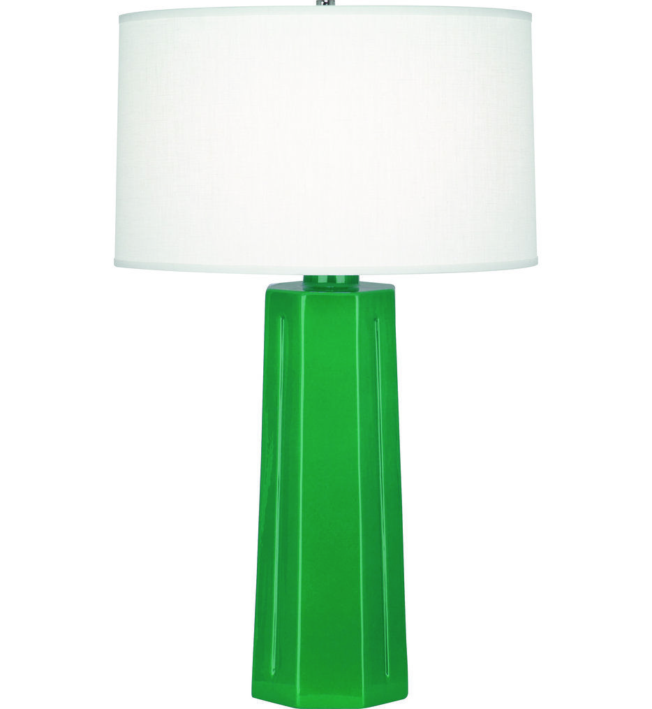 Robert Abbey - EG960 Mason Emerald Glazed Ceramic Table Lamp