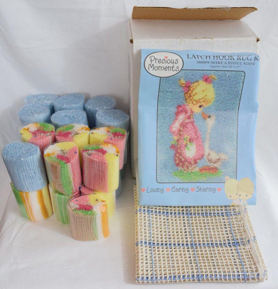 New Precious Moments Make A Joyful Noise Latch Hook Rug Kit Girl Duck 20 X 27