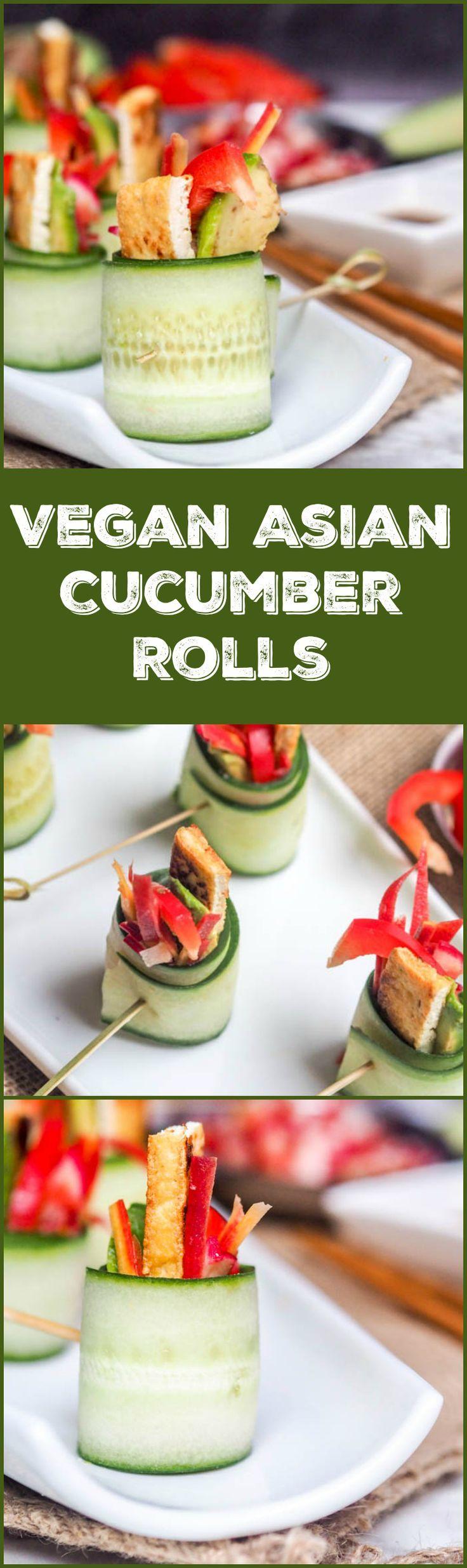 Cucumber Appetizers Vegan Asian Cucumber Rolls Gluten Free Recipe Cucumber Rolls Vegan Asian Appetizers