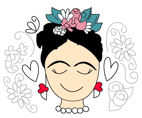 Frida Feliz Png 583 485 Frida Kahlo Dibujo Frida Kahlo Frida Kahlo Caricatura