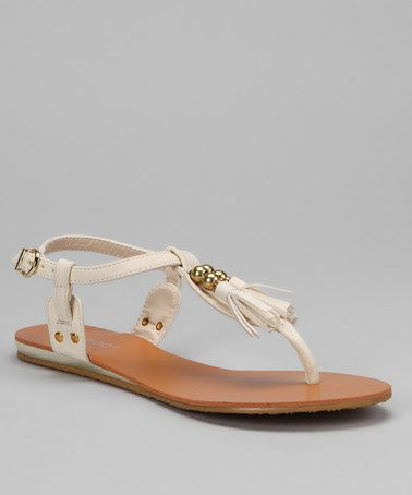 Take a look at this Beige Saili Sandal by Bamboo on #zulily today!