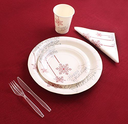 Christmas Disposable Dinnerware Round (Party Pack For 40) & Christmas Disposable Dinnerware Round (Party Pack For 40) | Store ...