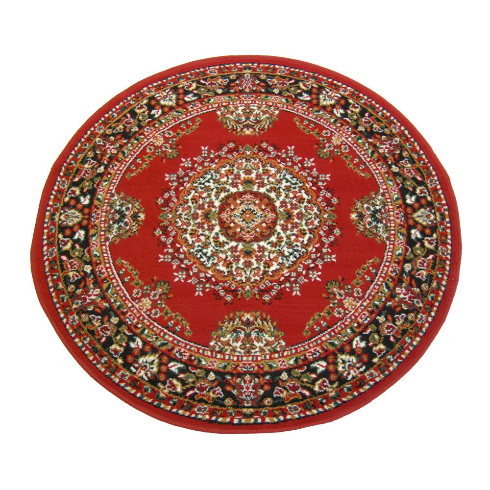 Marvel Traditional Red Rug Circle 120cm
