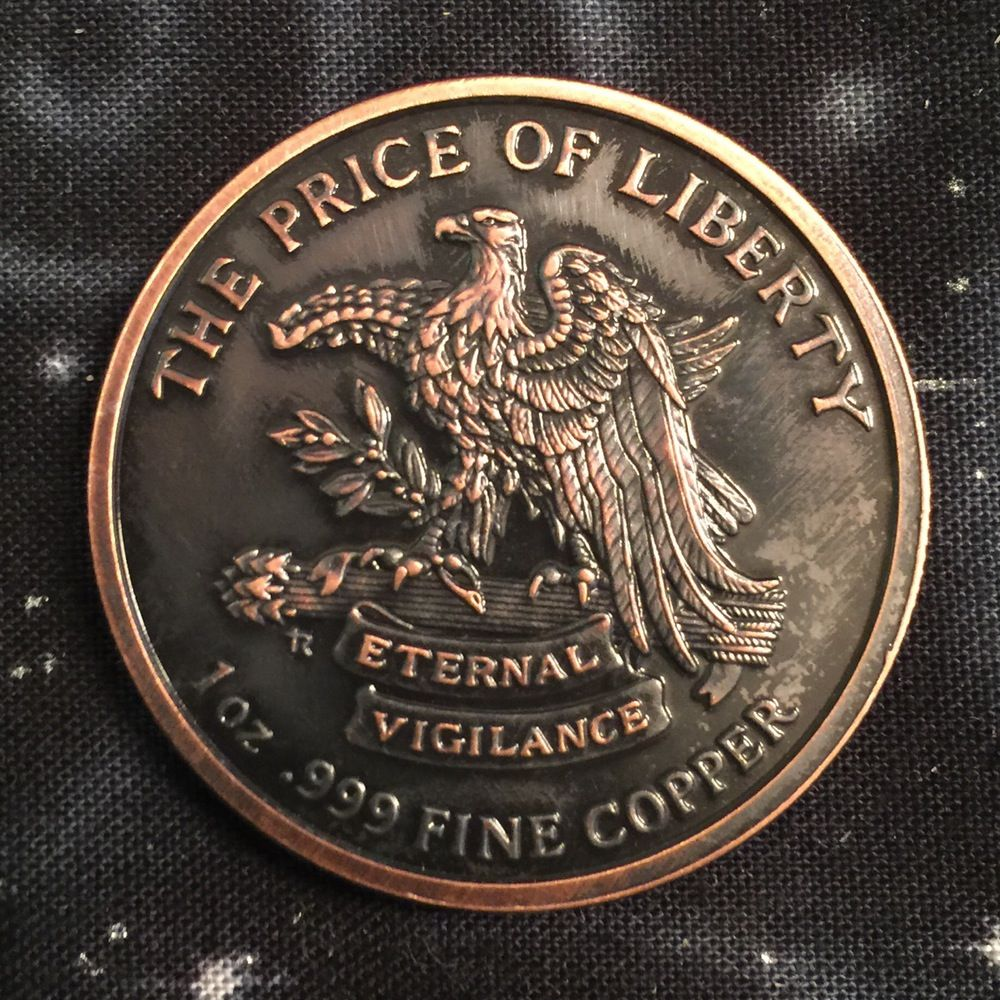"Copper Round /""Pledge of Allegiance/""   United States of America 1 oz"