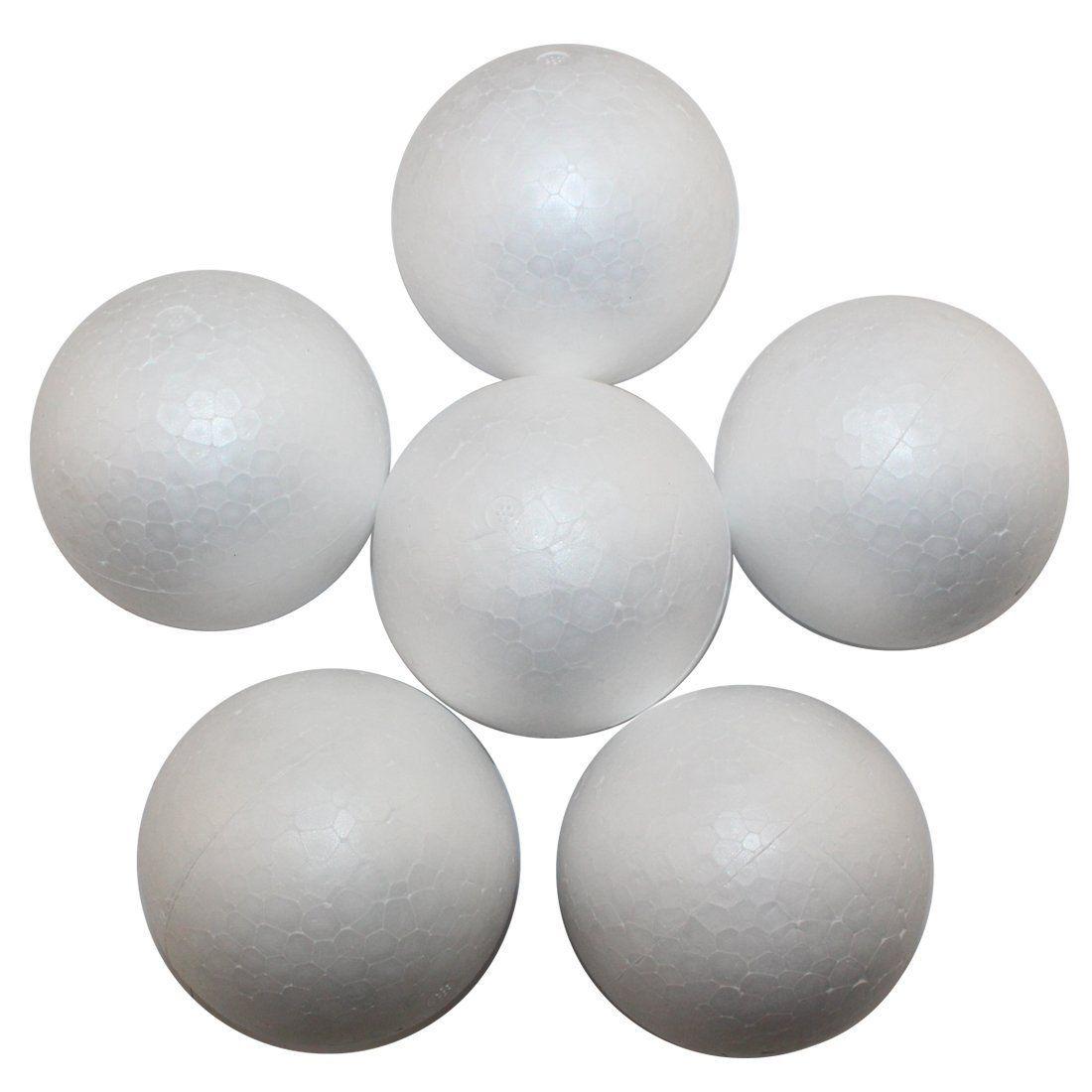 Foam ball craft - Decora 3 9 Inch Natural White Styrofoam Round Balls Craft Ball Foam Ball Diy Handmade Painted Ball