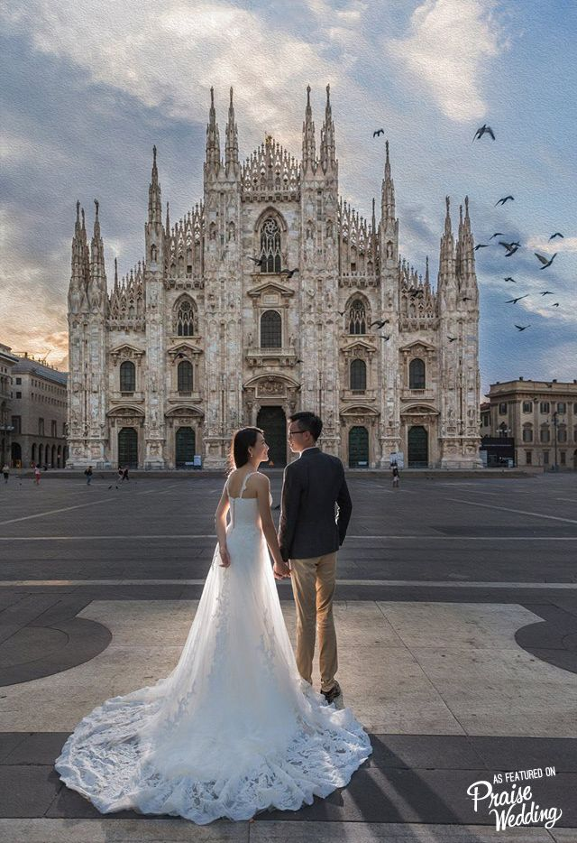 pre wedding photoshoot location malaysia%0A This prewedding photo captured in Milan is like a fairytalecometrue