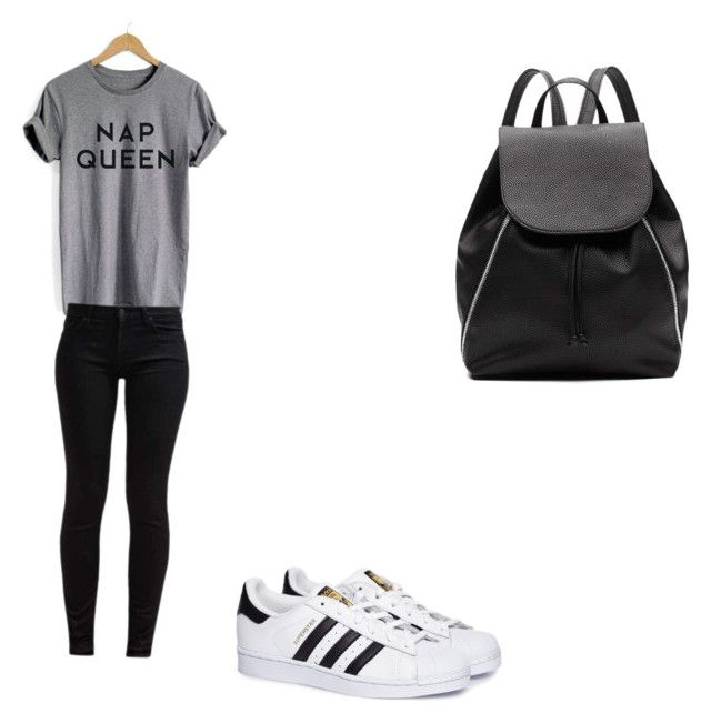 """Summer school time 🌞"" by bogoedhart ❤ liked on Polyvore featuring 7 For All Mankind, adidas and Witchery"