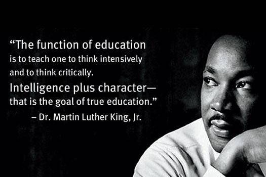 Image result for Martin Luther King education quote