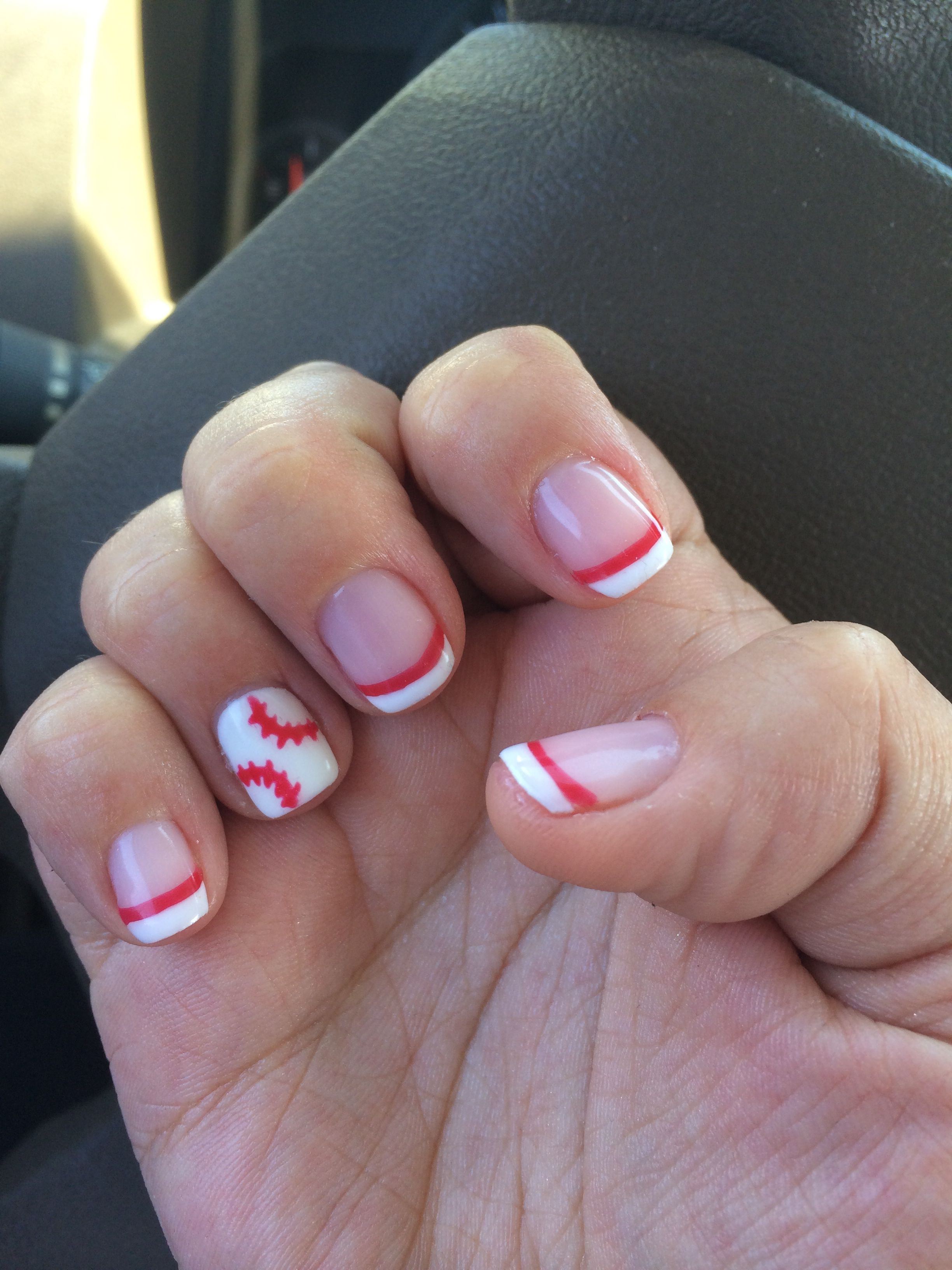 My own design of baseball nails. ❤ | My Own Style | Pinterest ...