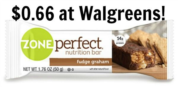 Walgreens: Zone Perfect Bars Only $0.66!