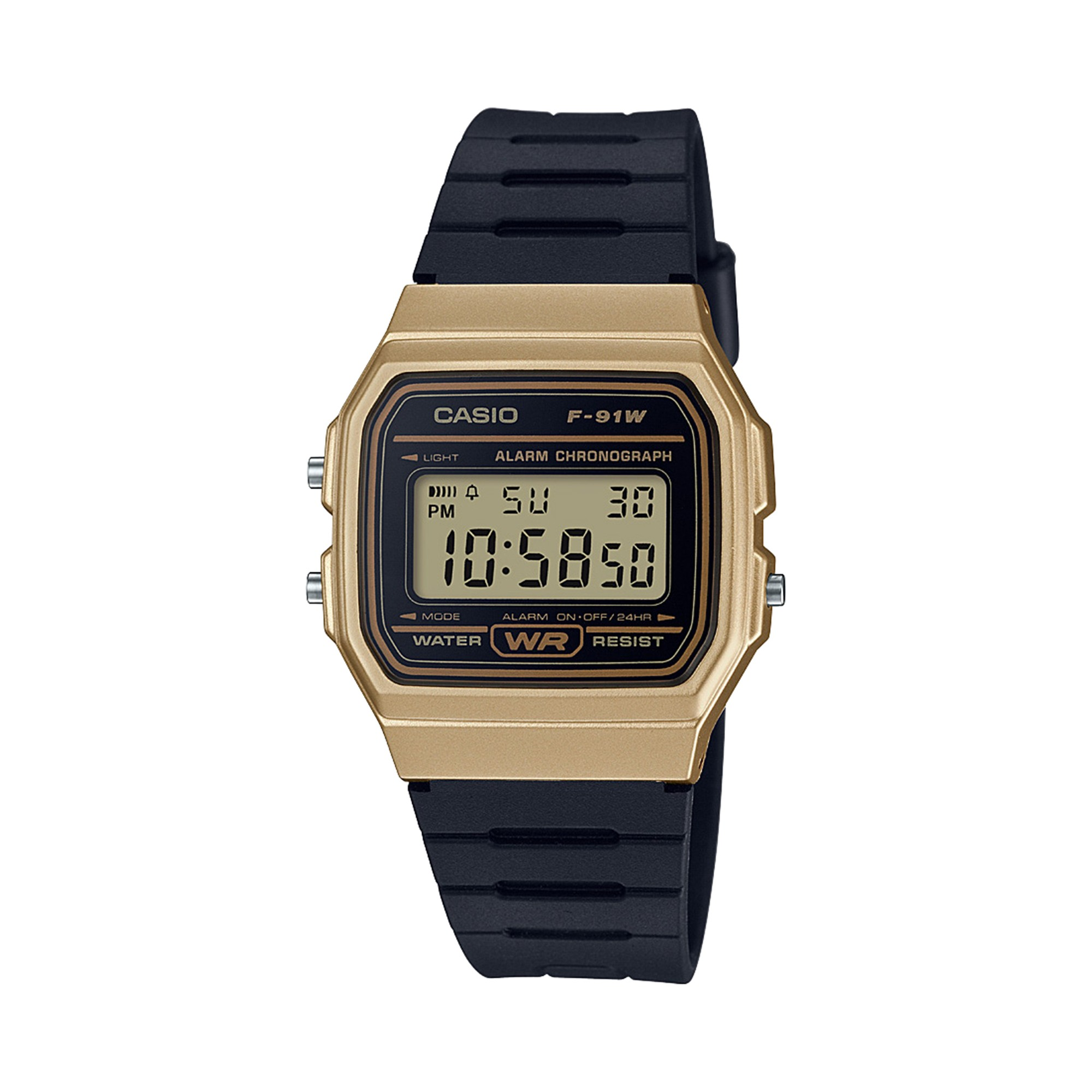 2aa949813c40 Men s Casio F91WM-9A Digital Watch - Black Gold