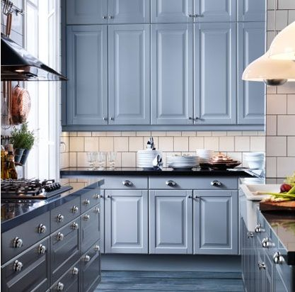 Blue Kitchen Cabinets Ikea IKEA kitchen cabicolor lovvveee colored cabinets | Grey ikea