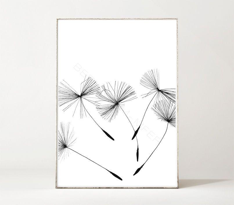 JIL / Kunstdruck / Poster / Löwenzahn / Pollen / Pusteblume /  Minimalistisch In Möbel U0026