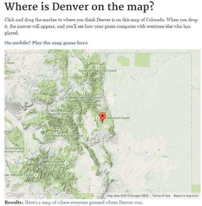 The Denver Post on | goals | Map games, Denver post, Us map