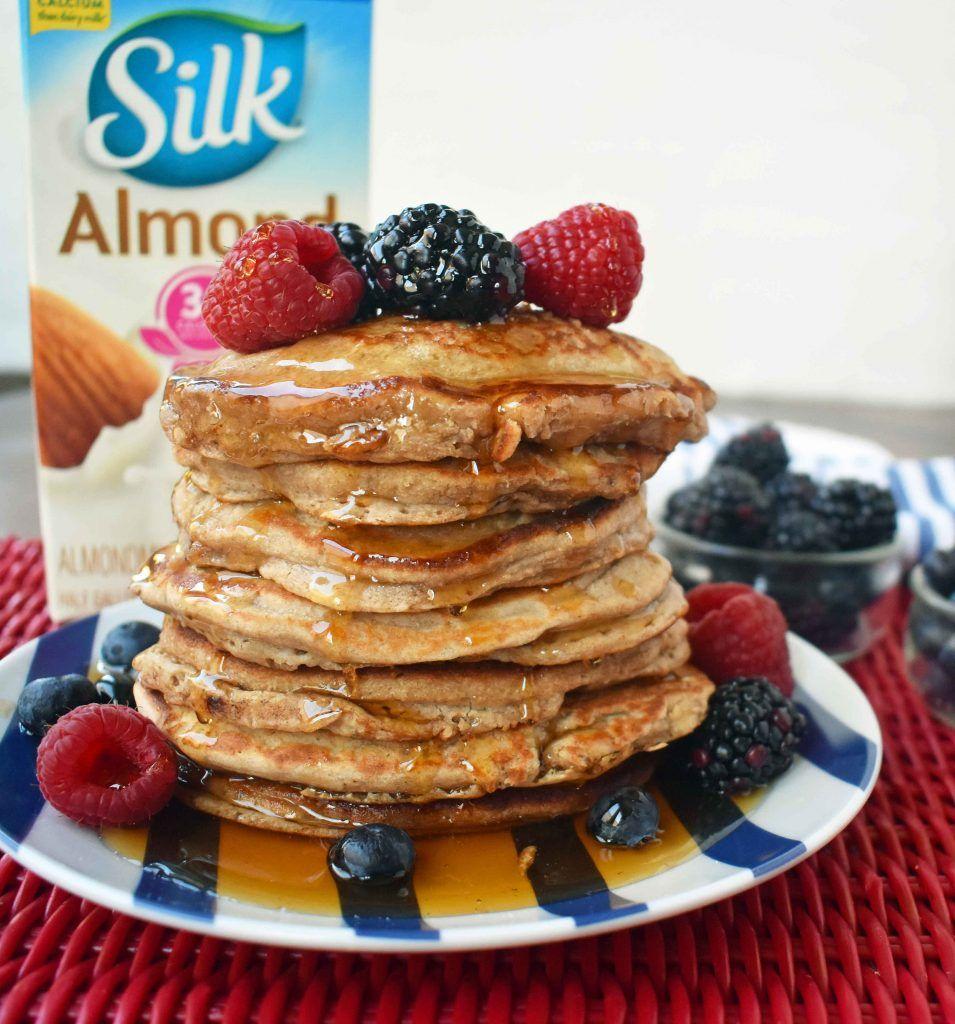 Healthy banana oatmeal pancakes by modern honey no sugar