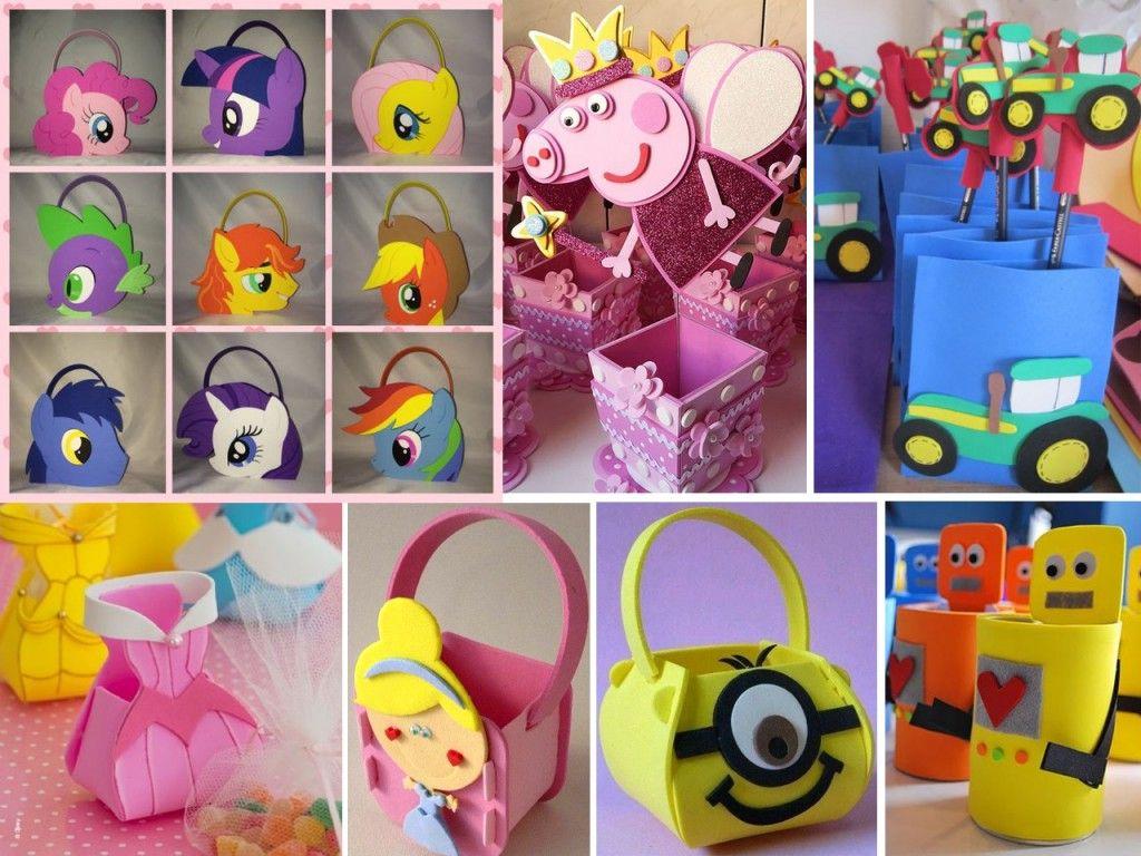 9c319d573 bolsas en goma eva para cumpleaños Cumpleanos Infantiles, Día Del Niño,  Goma Eva,