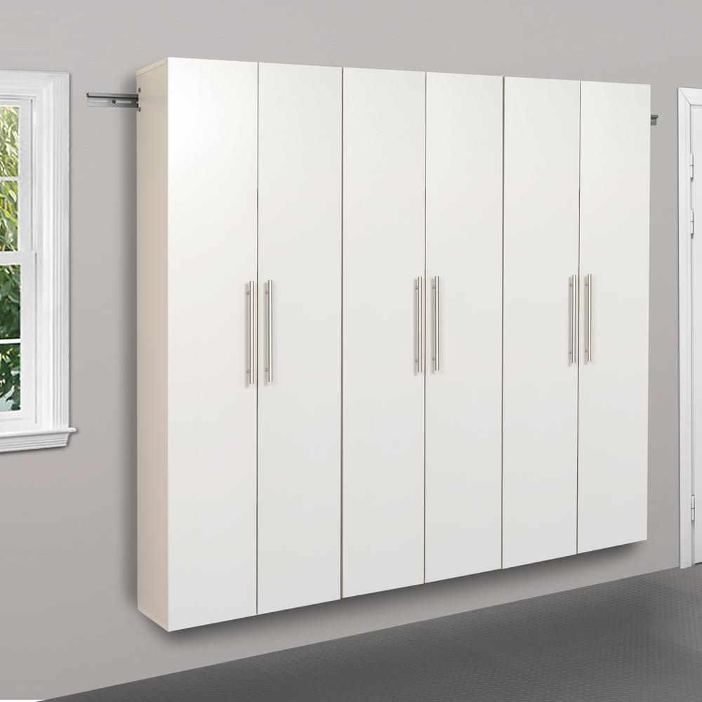 Prepac Hangups 72 In H X 72 In W X 12 In D White Wall Mounted Storage Cabinet Set C Wrgw 0703 3m The Home Depot In 2020 Large Storage Cabinets Storage Cabinet Garage Storage Cabinets
