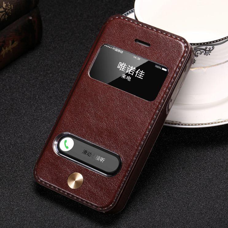 vintage style luxus pu leder flip cover case f r iphone 7. Black Bedroom Furniture Sets. Home Design Ideas
