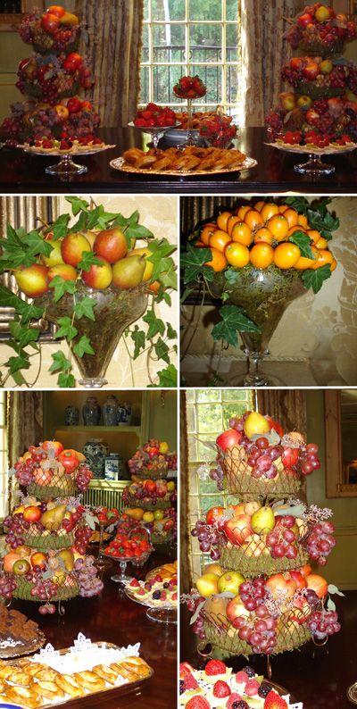 Mom S Fruit Nut Centerpieces Fruit Centerpieces Fruit Displays Fruit Arrangements