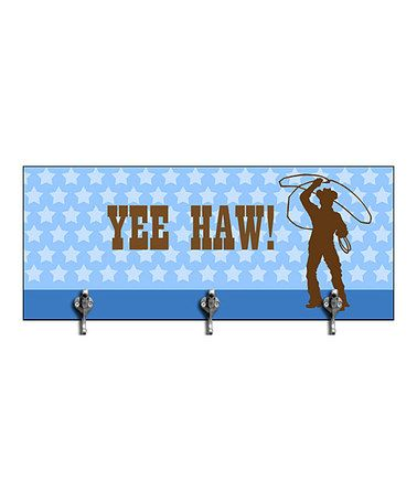 Take a look at this 'Yee Haw!' Wall Hook by Green Leaf Art on #zulily today!