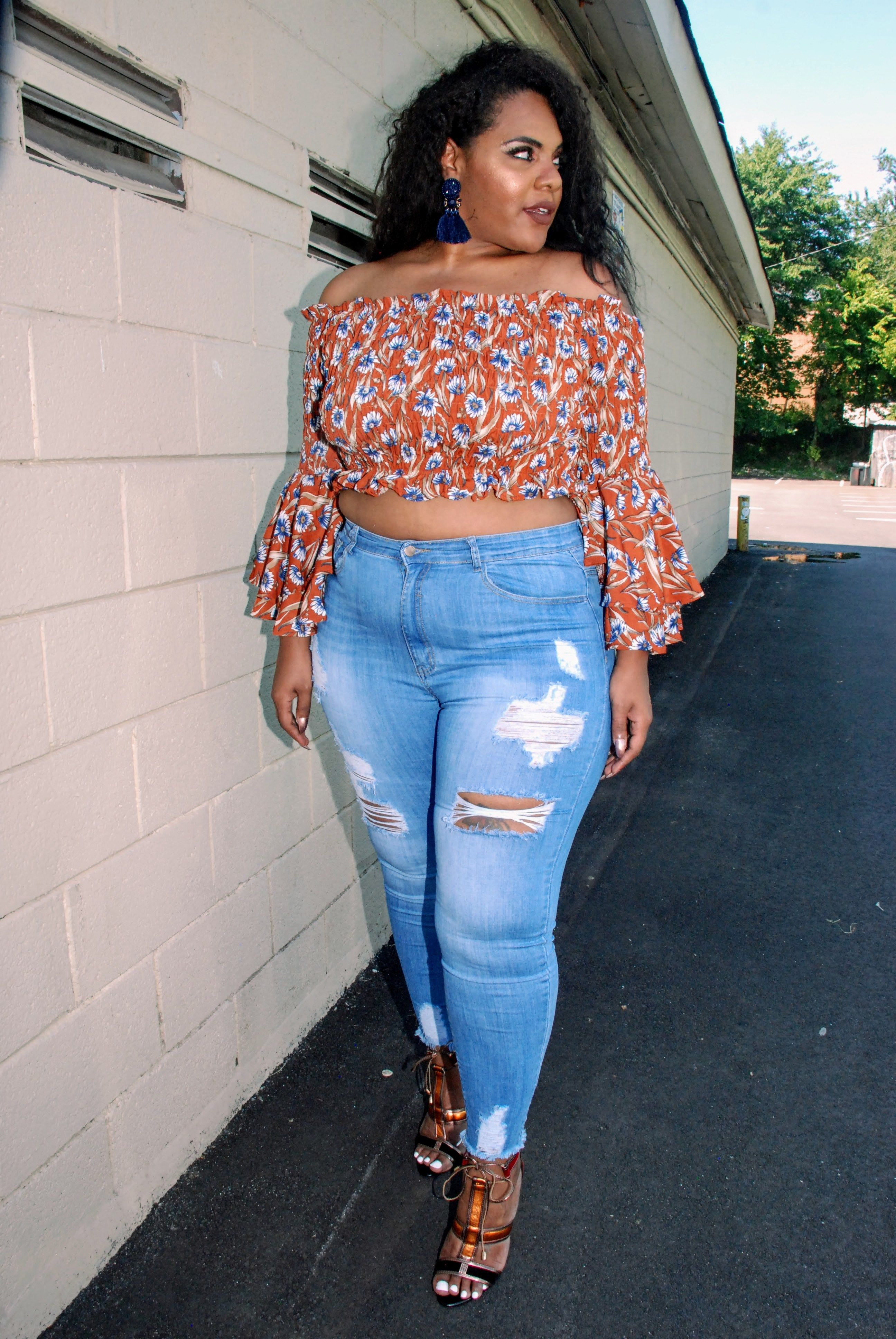 88f06afd32 plus size jeans, how does fashion nova jeans fit, fit fashion nova jeans,  plus size distressed jeans, plus size crop top, plus size fashion nova,  fashion ...