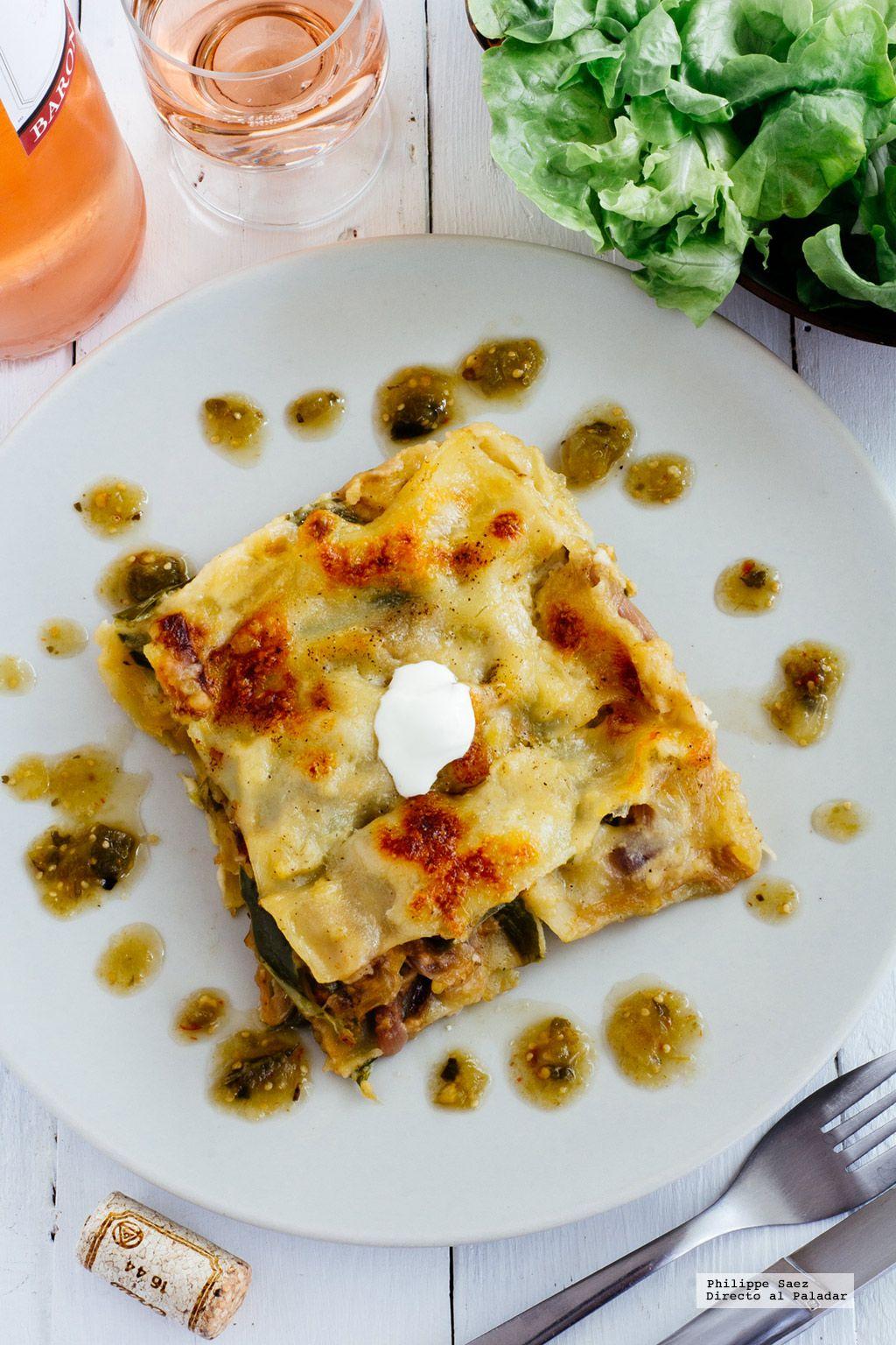 comida lasaa de pimiento dulce receta vegetariana fcil