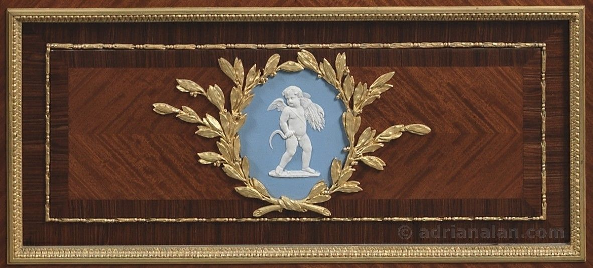 JOSEPH-EMMANUEL ZWIENER (c.1848-1895)  An Important Pair of Louis XVI Style Vitrines with Wedgwood Plaques