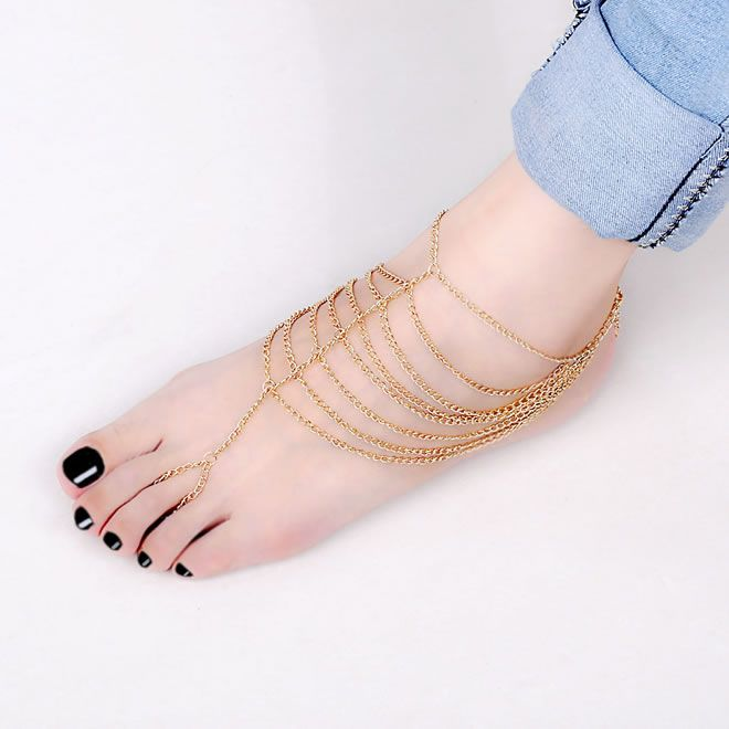 Ankle and toe ring foot bracelet Jewerly