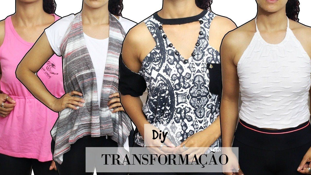 DIY - TRANSFORMANDO CAMISETAS - T-SHIRT TRANSFORMATION