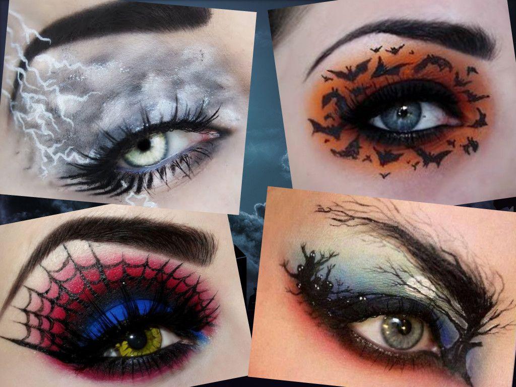 halloween eyeshadow designs   makeup & nails   pinterest   halloween