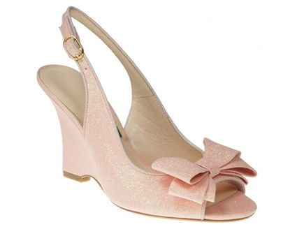 Milk Honey Pretty In Pink Glitter Bridal Shoes With Custom Heel Height