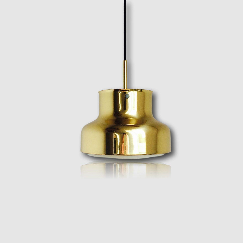 bumling swedish brass hanging lamp vintage pendant from atelje