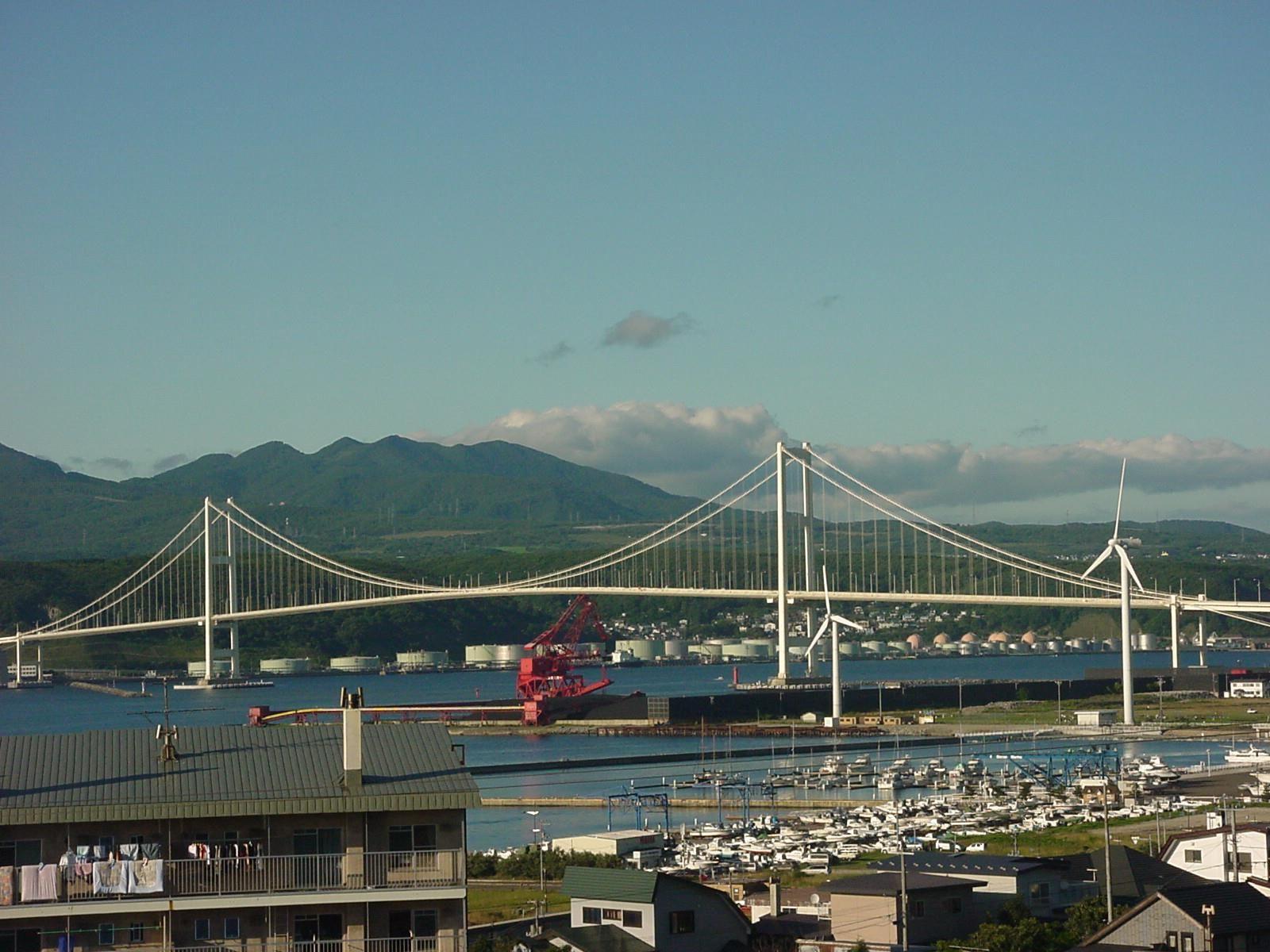 hakucho ohashi bridge muroran city hokkaido japan the longest