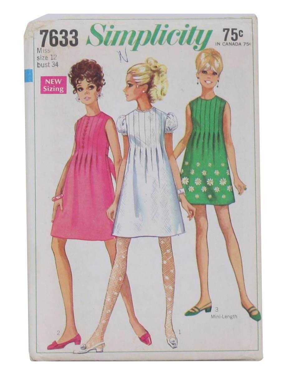 e728fc912fc3 1960 s Simplicity Pattern No. 7633 Womens Pattern