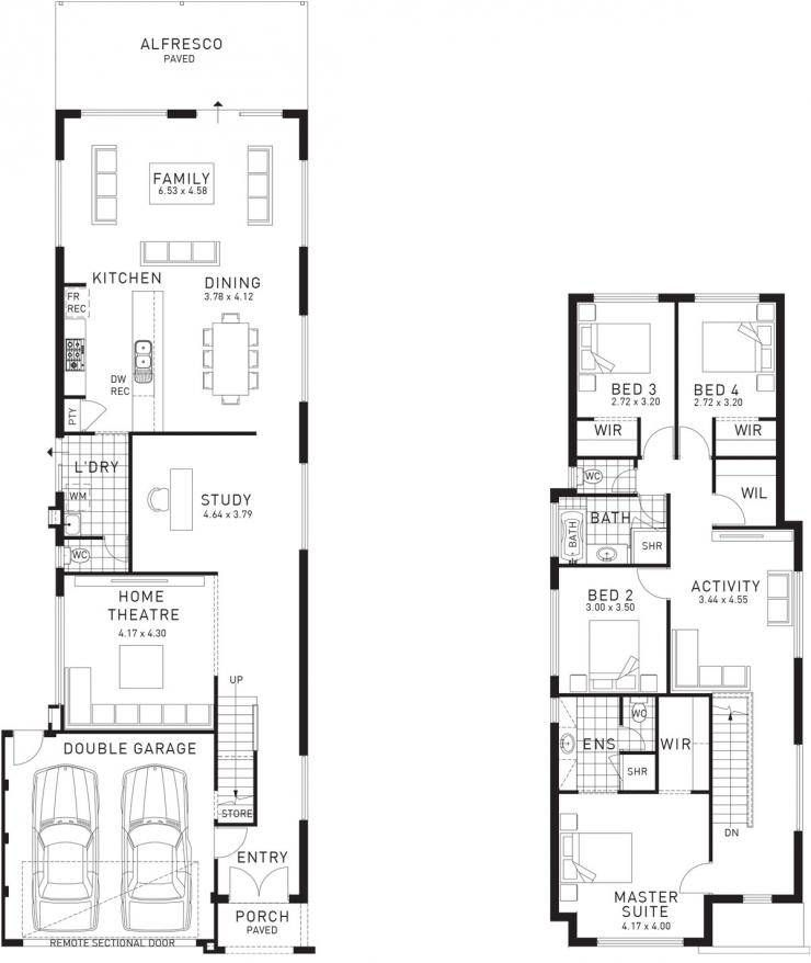 Woodlands Double Storey Floor Plan Wa Single Storey House Plans House Layout Plans Narrow House Plans