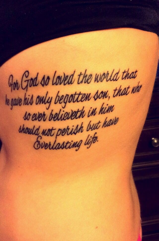 John 3 16 Tattoo : tattoo, Tattoos,, Grandpa, Taught, Words, Young, Tattoo,, Birthday, Tattoos