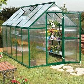 Serre de Jardin Mythos 5.7 m2 laquée verte - polycarbonate ...