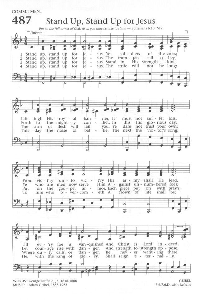 Stand christian song lyrics