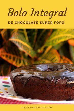 Bolo de chocolate integral fofo e delicioso - Saudável, sem lactose e muito fácil de fazer.