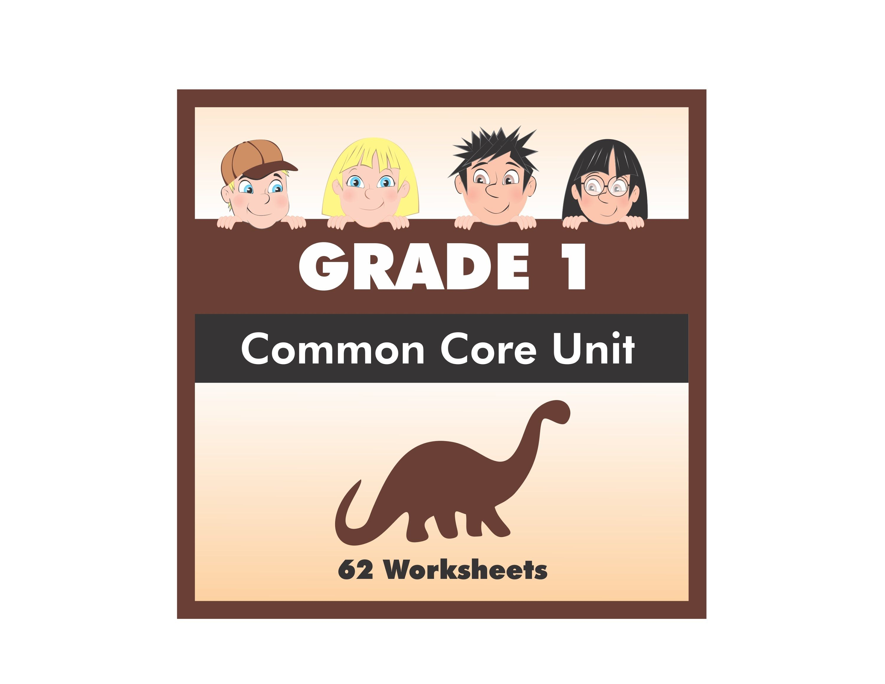 Grade 1 Sauropods Common Core Worksheet Pack