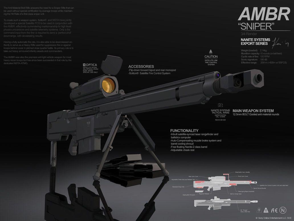 Planetside 2 Pre Viz Ambr Sniper Planetside 2 Guns Photography Sniper