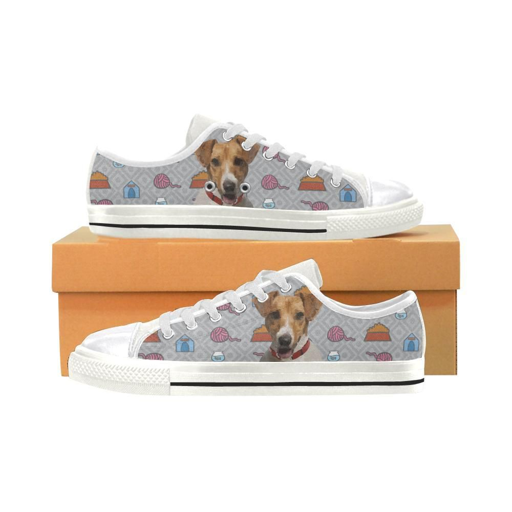 948677379eb5  TeeAmazing -  e-joyer Jack Russell Terrier White Women s Classic Canvas  Shoes -