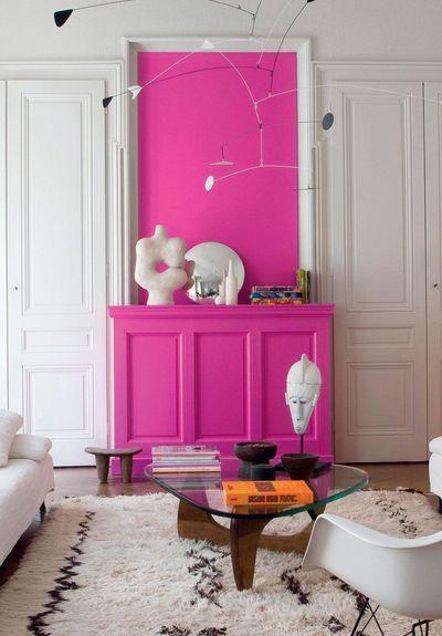 Rose fuchsia : une couleur tendance pour la déco | Pink accents ...